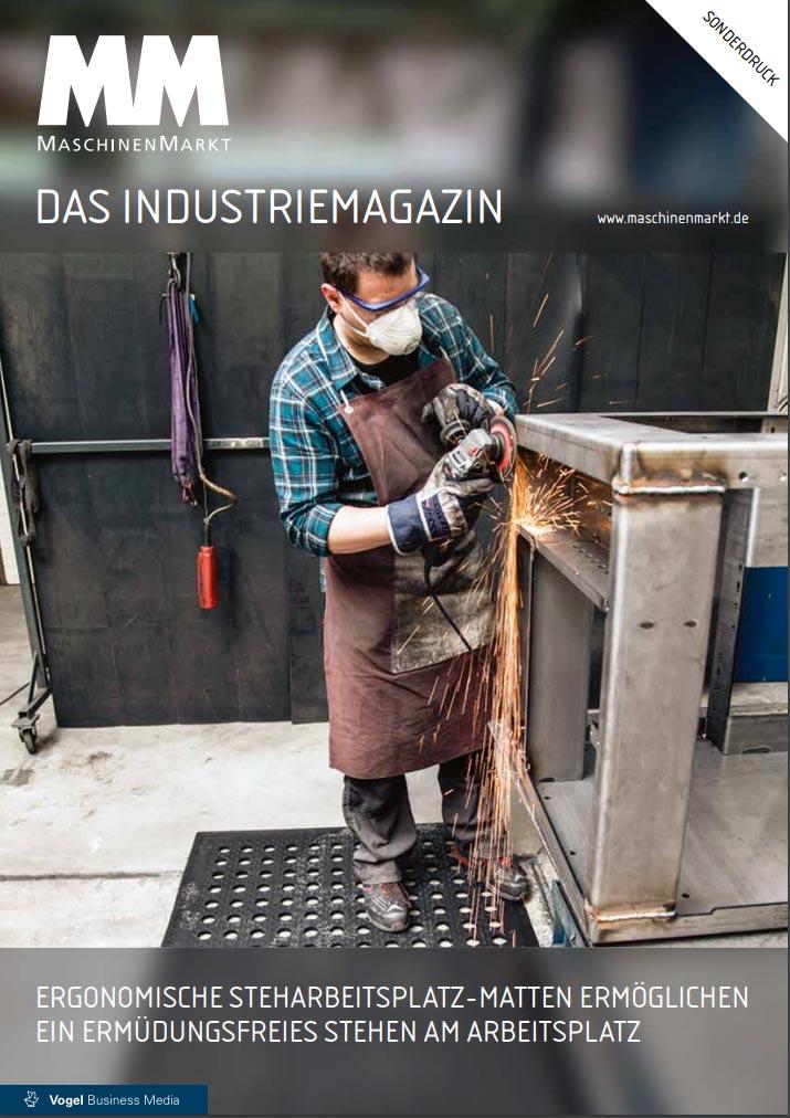 Cover Sonderdruck MM Maschinenmarkt - Arbeitsplatzmatten von isoloc